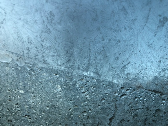 Icy windshield